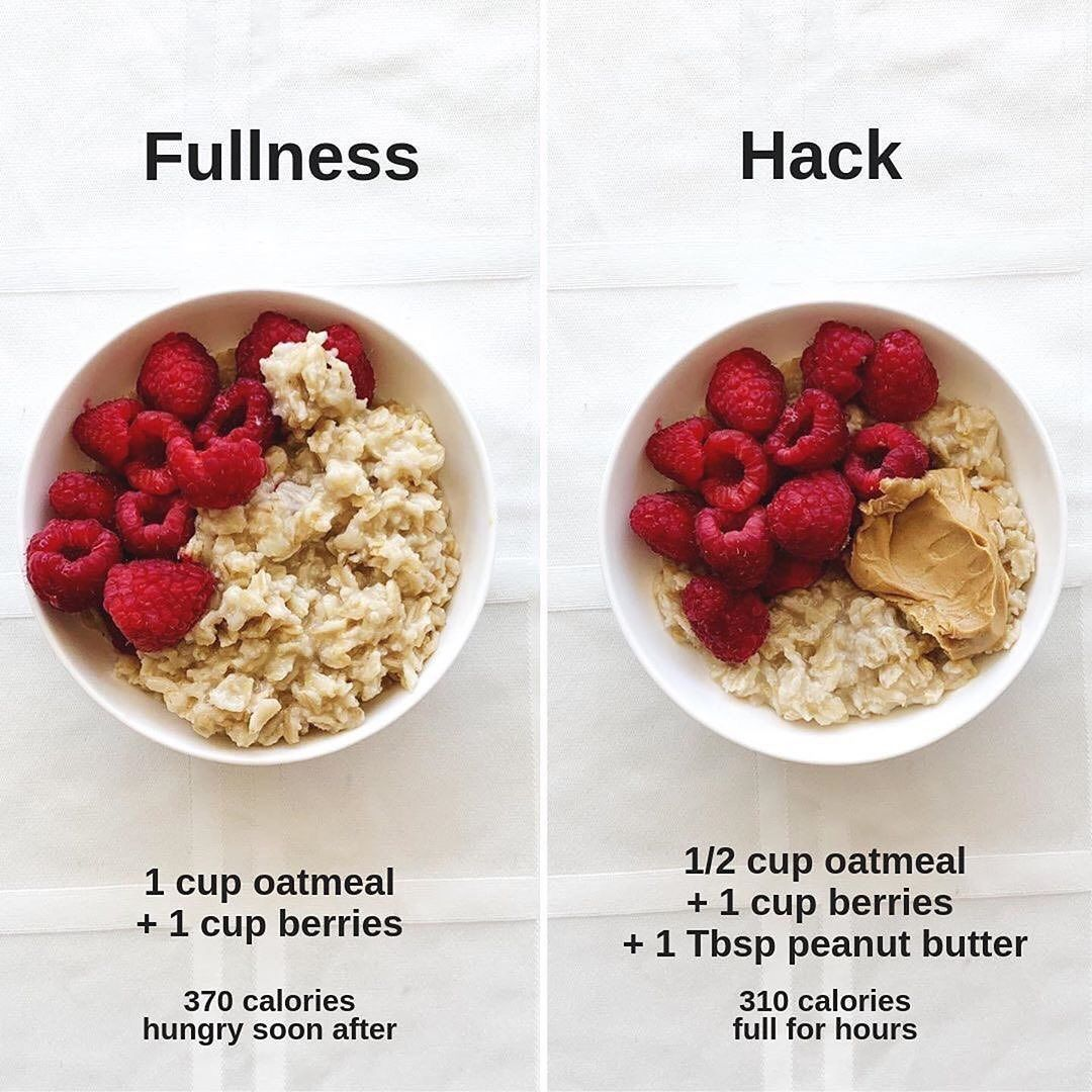 Health Nutrition Facts On Instagram How About This Fullness Hack Simp Healthy Recetas Comida Comida Fitness Recetas Recetas Saludables Para El Desayuno