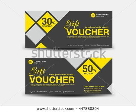 Yellow and black Discount Voucher template flyer design polygon - discount voucher design