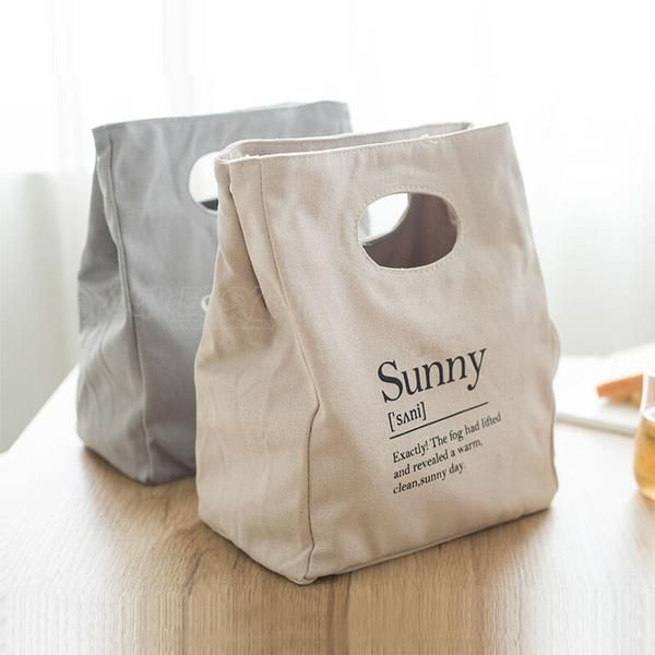 Reusable Organic Cotton Canvas Stylish Lunch Tote Bags #bag