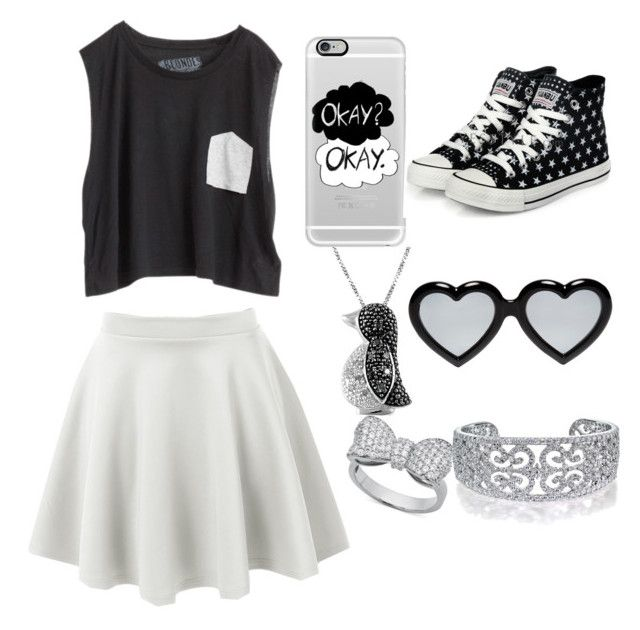 """Black and white"" by gabbygainer ❤ liked on Polyvore"
