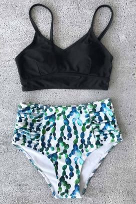 269bb6d15e0b4 Cupshe Cactus Protects Me Bikini Set | Bathing Suits | Summer ...