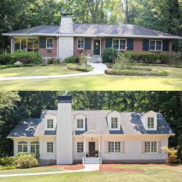 Pin By Hunt Co Homes And Cabinetry On Exterior Elements Ranch House Exterior Ranch House Remodel Home Exterior Makeover
