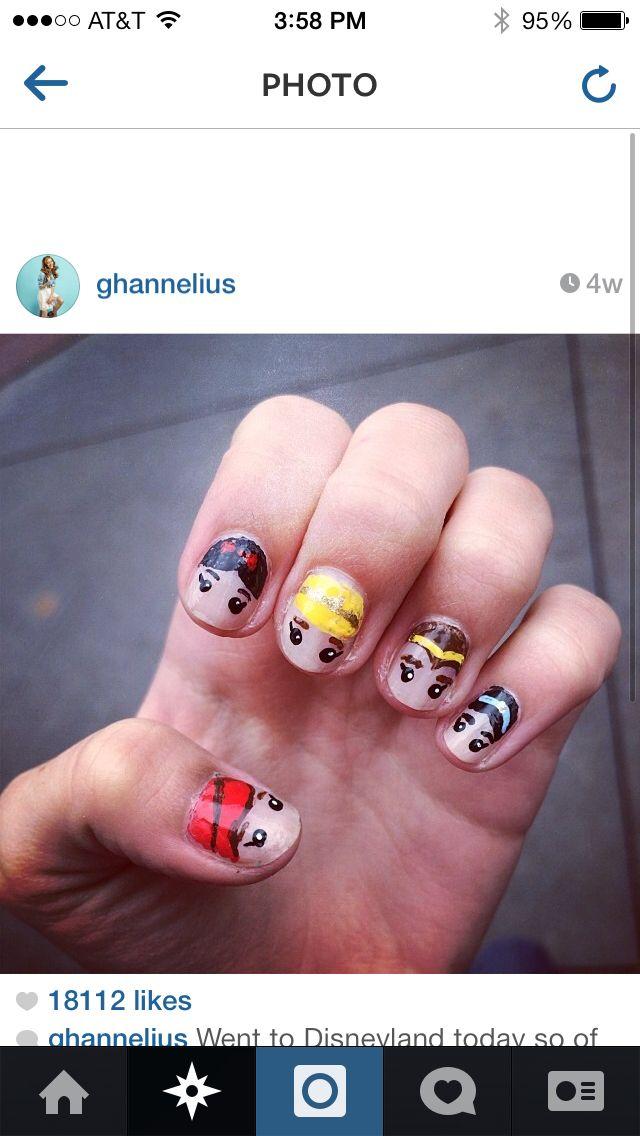 Disney princess nails done by g hannelius | Disney <3 | Pinterest ...