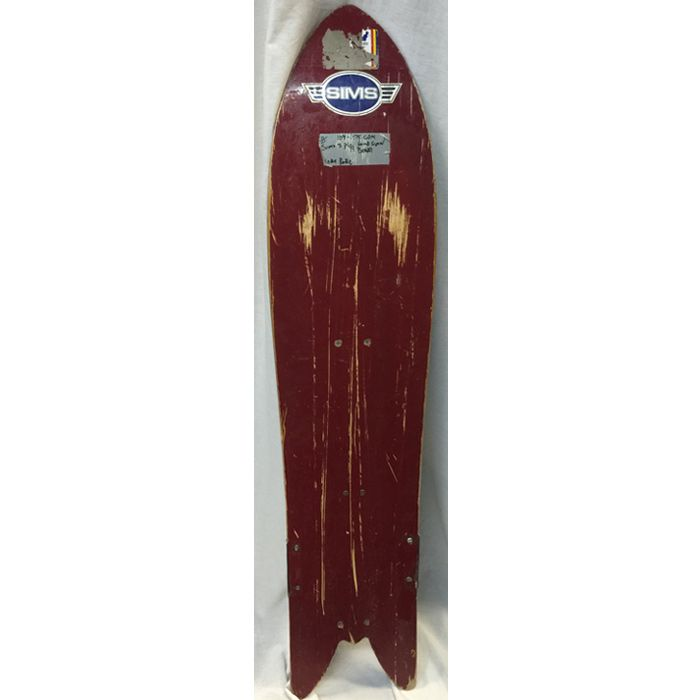 SIMS Early 80s Vintage Pro Snowboard With Bungee Cord