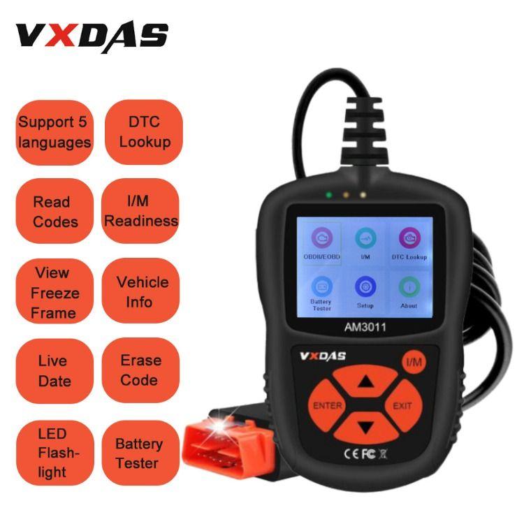VXDAS OBDII Scanner AM3011 Auto Fault Code Reader Universal Check