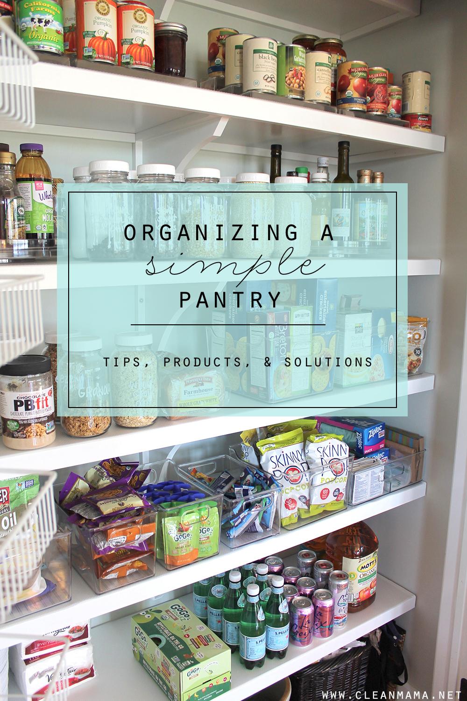 Organizing A Simple Pantry | Orden en casa, Despensa y Limpieza