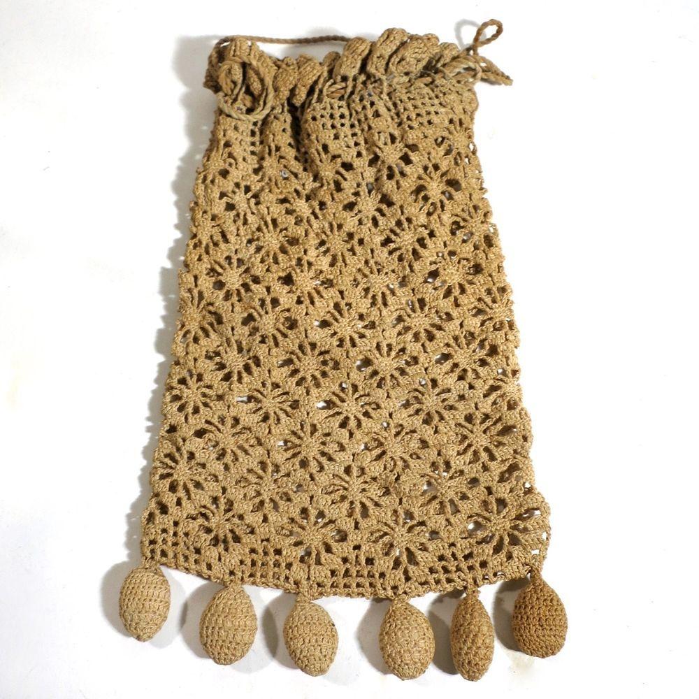 Vintage Antique Crochet Purse Bag Reticule Handbag Needle Work ...