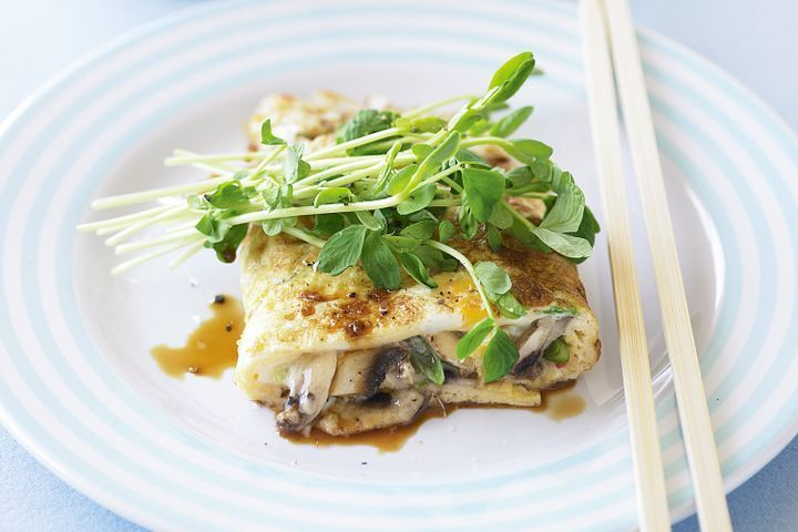 Asian mushroom omelette recipe clean eating meal plan