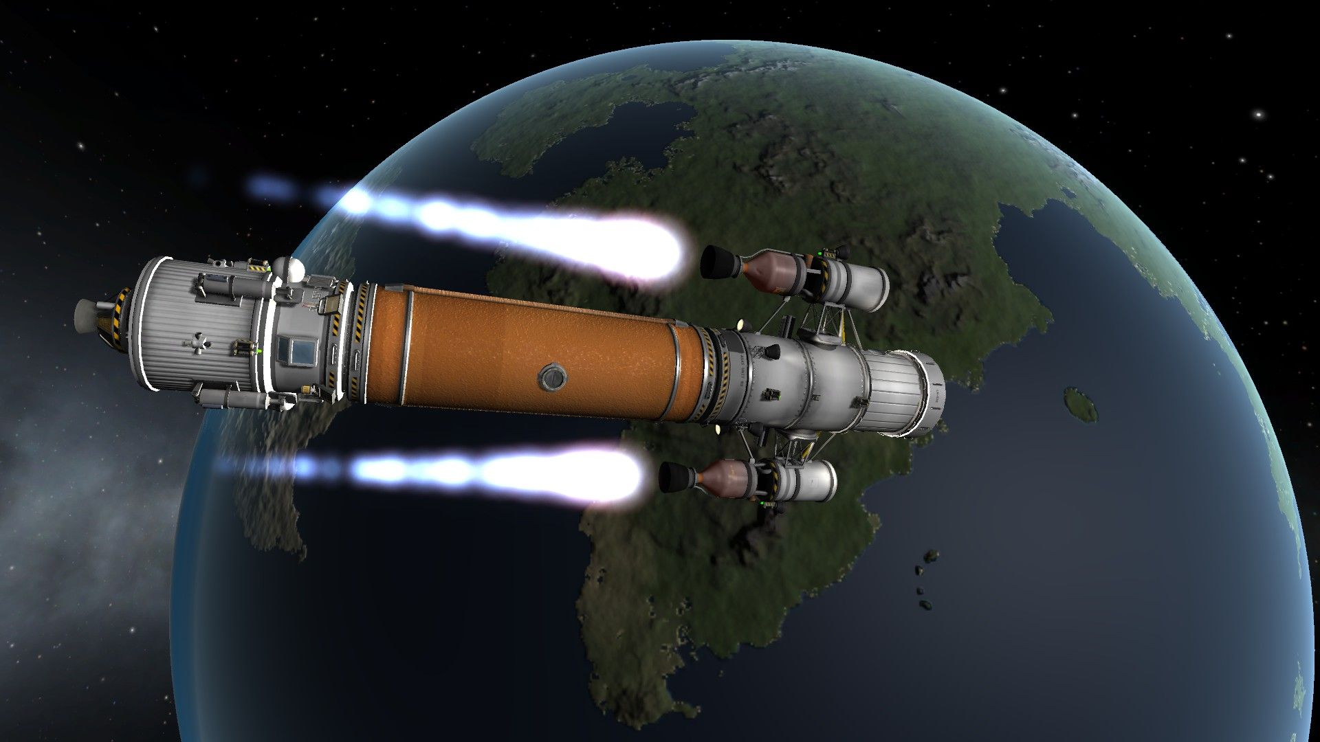 "Interplanetary vehicle, locomotive style. ""That's what I ..."