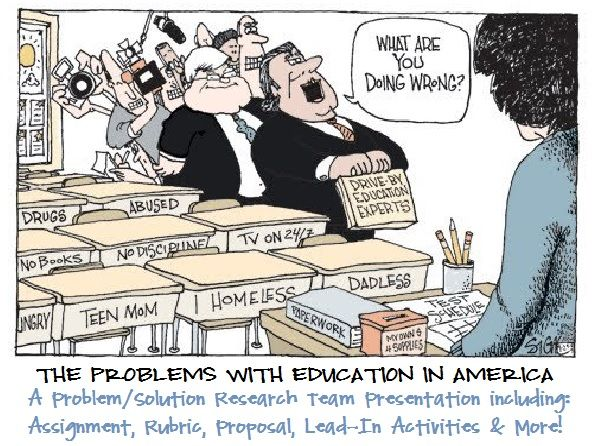 Education In America Problem Solution Teacher Humor Teacher Cartoon Teaching Humor