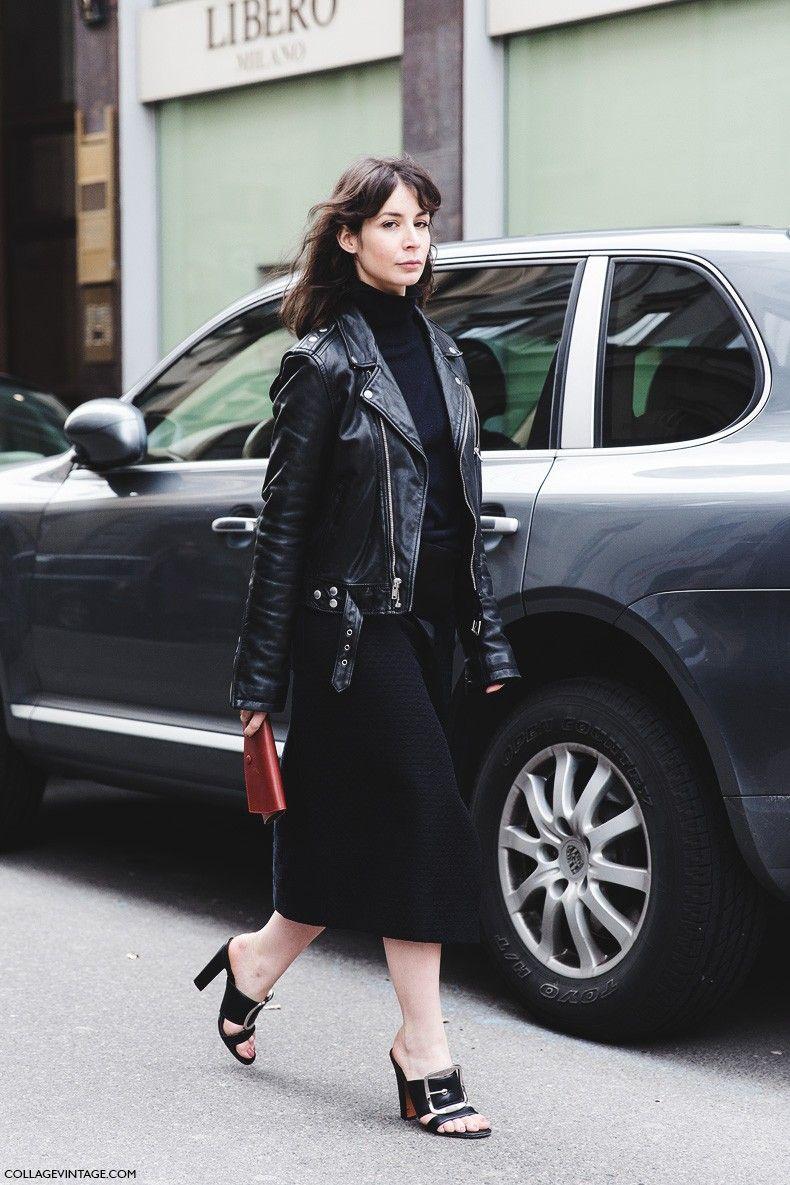 Milan_Fashion_Week-Fall_Winter_2015-Street_Style-MFW-Midi_Skirt_Leather_Biker_JAcket-Givenchy--790x1185.jpg 790×1185 pikseliä