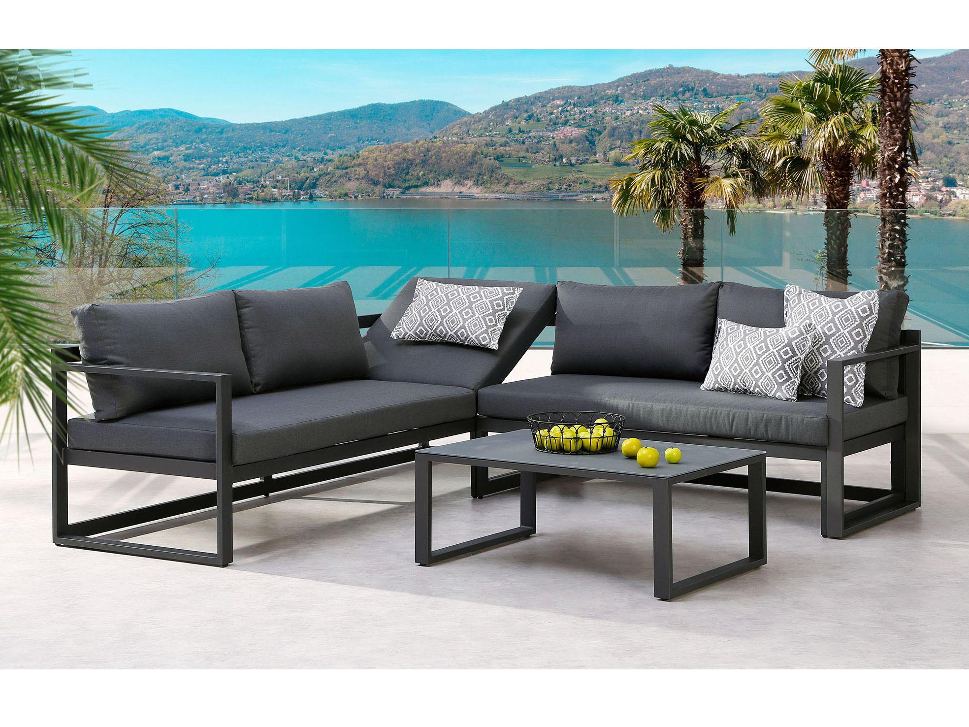 Puristische Garten Lounge Rhodos Anthrazit Hohenverstellbares Kopfteil Online Kaufen Borono Lounge Mobel Outdoor Sofa Garten Lounge