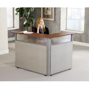 60x48 L Shaped Reception Station Small Reception Desk Desks For