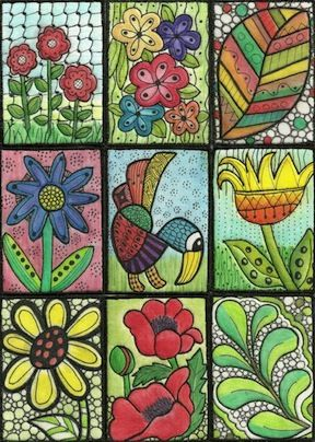 Artist Trading Cards ATC Using Inktense Pencils