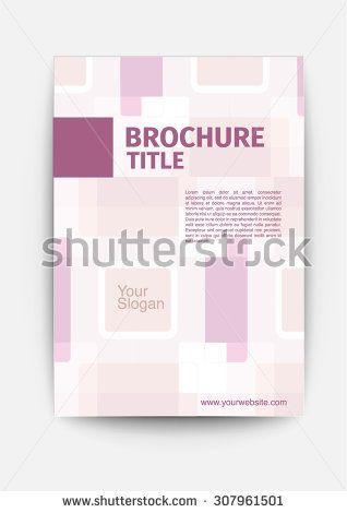 Brochure Template Design Layout Vector Cosmetic Abstract