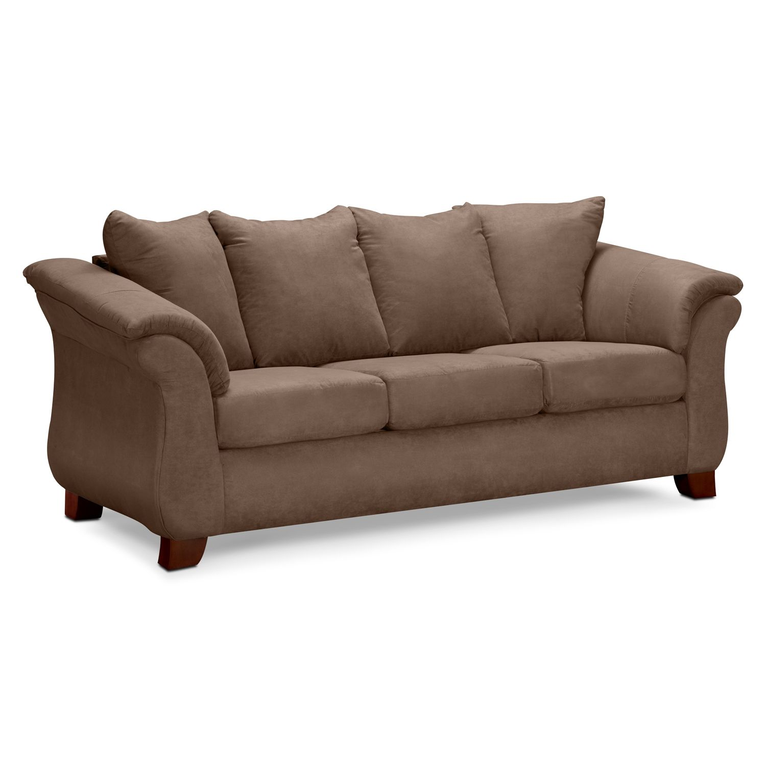 Living Room Furniture Leather And Upholstery Brown Couch For Brown Red Color Scheme Sunroom Pinterest