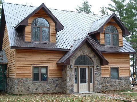 Half Stone Half Wood Idea In 2019 House Styles House