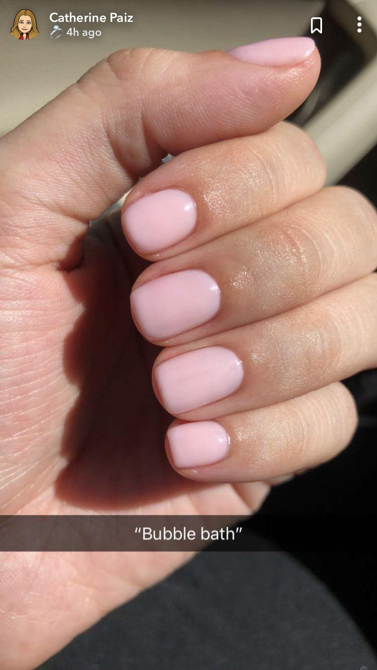 Bubble Bath Nails Natural Nails Pink Nails Short Gel Nails