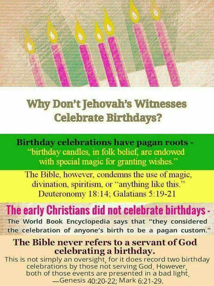 For those who wonder why we dont do birthdays | JW