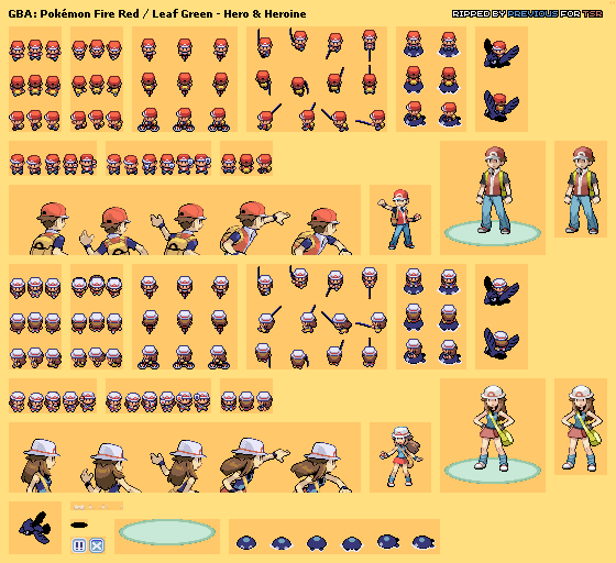 The Icons That You Re Talking About Are 32x32 Pixels Square The Larger Sprites That You See In Battle Vary By Game I Pokemon Firered Pokemon Sprites Pokemon