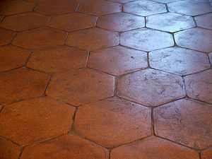 Baldosa de suelo de terracota r stica esagono - Baldosas de terracota ...