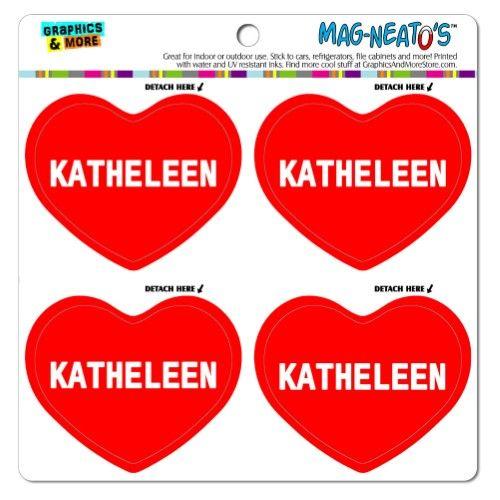 I Love Heart - Female Names - Katheleen - MAG-Neato's(TM) Vinyl Magnet Set