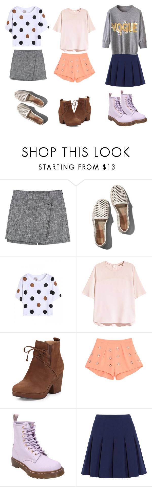 """""""My time"""" by pink1dmz ❤ liked on Polyvore featuring Abercrombie & Fitch, H&M, Eileen Fisher, Clover Canyon, Dr. Martens and Diane Von Furstenberg"""
