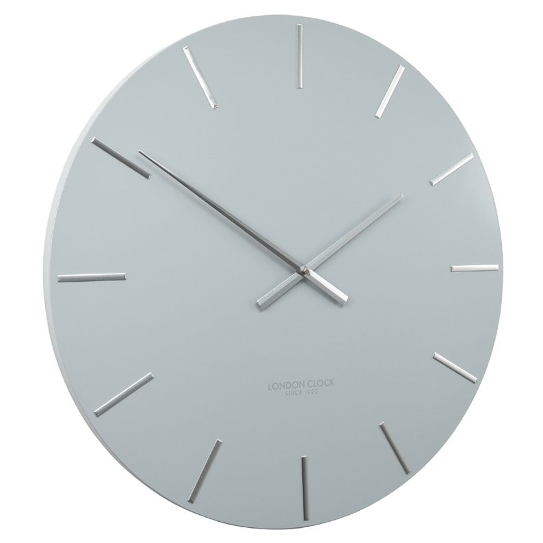 Grey And Silver Pressed Metal Wall Clock With Images Silver Wall Clock Metal Wall Clock Wall Clock