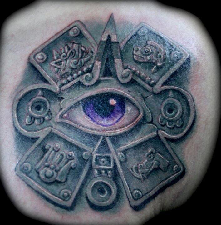 31fba83369f13 Ollin tattoo - Lalo Silva #Aztec | Aztec | Tattoos, Aztec, Tattoo ...