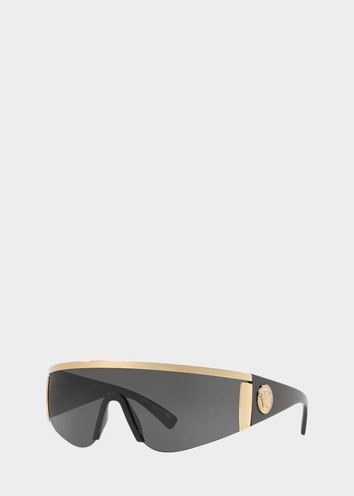 3ccda461c Versace Black Tribute Visor Sunglasses | Products in 2019 ...