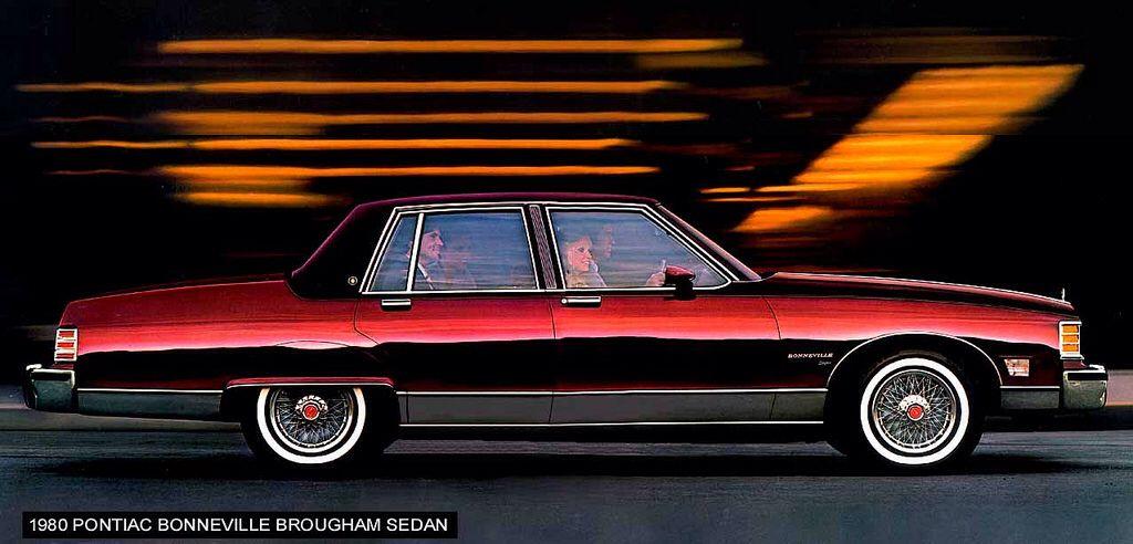 Pontiac Bonneville Brougham Sedan Maroon Large Pontiac