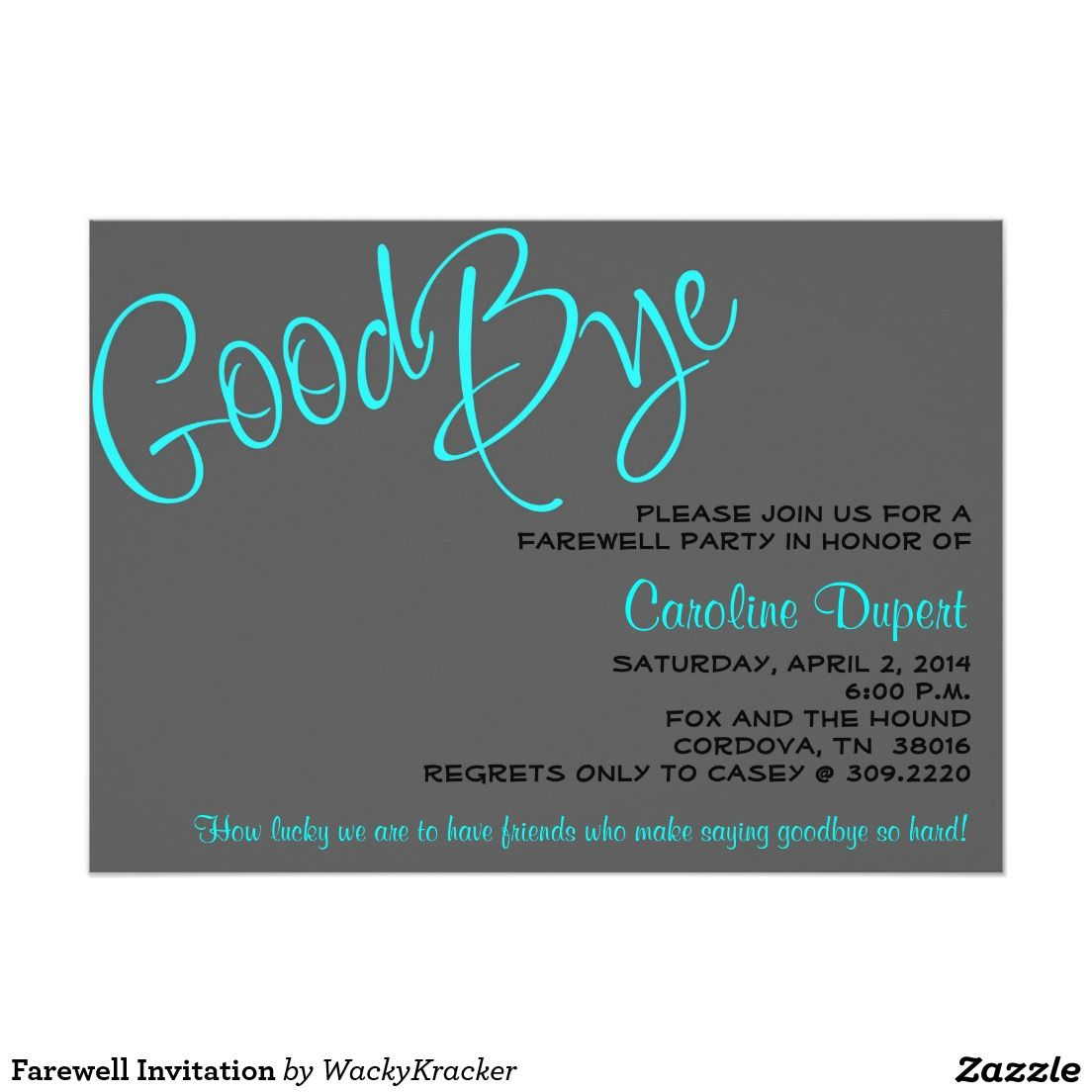Farewell Invitation Zazzle Com With Images Farewell