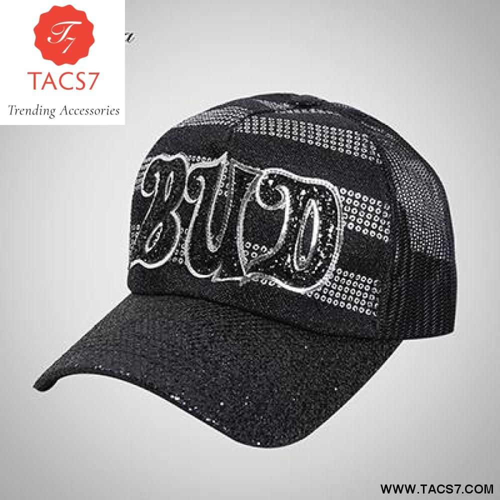 c0c34de1c2d Ponytail Baseball Cap Women Trucker Dad Hat Snapback Caps Summer Female Hip  Hop Hats Girls Sequins Messy Mesh Cap