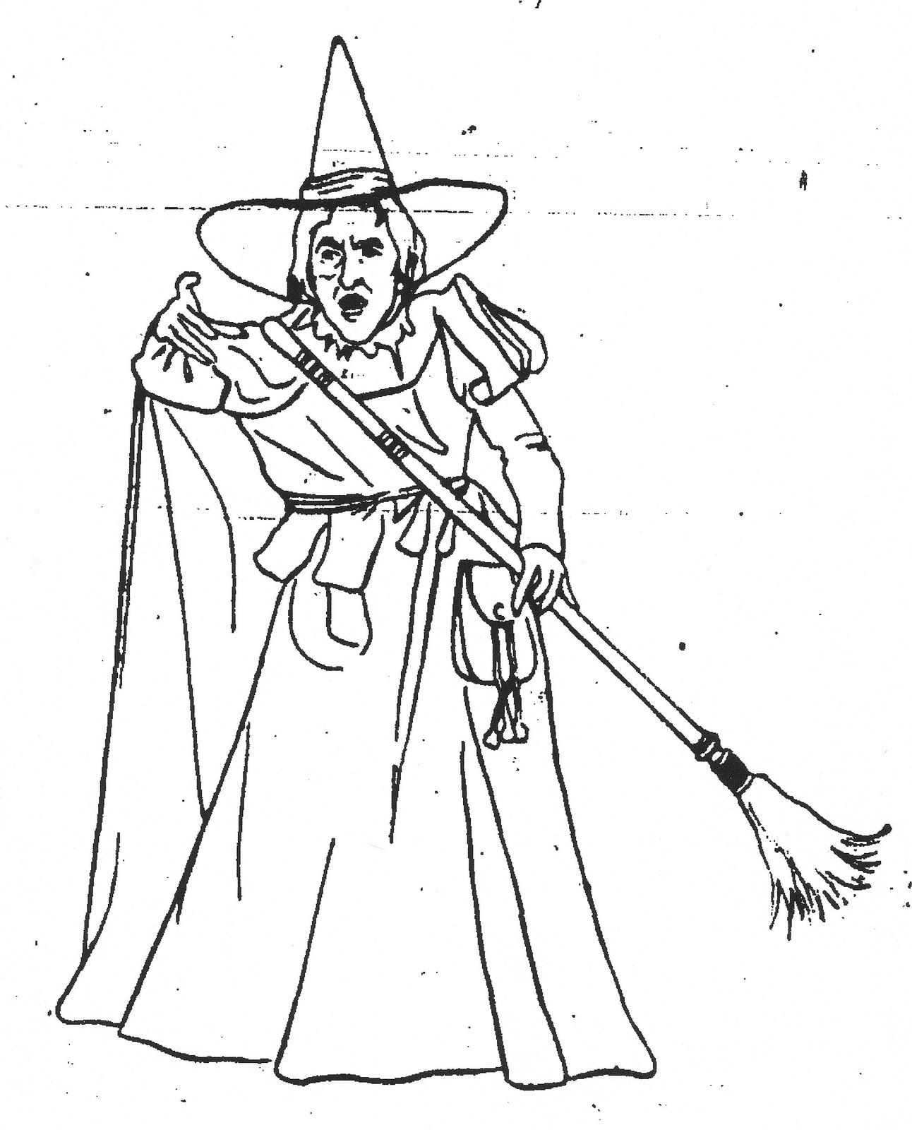 Mostly Paper Dolls October 2011 Witch Coloring Pages Wizard Of Oz Color Coloring Books
