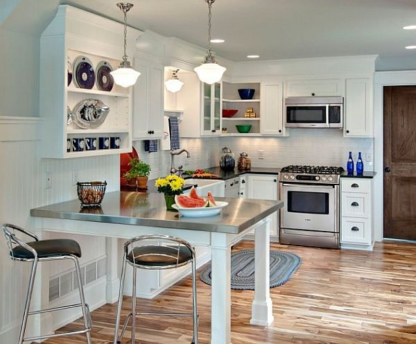 Making The Most Of Small Kitchens  Stainless Steel Table Steel Fair Kitchen Design Small Spaces Design Ideas