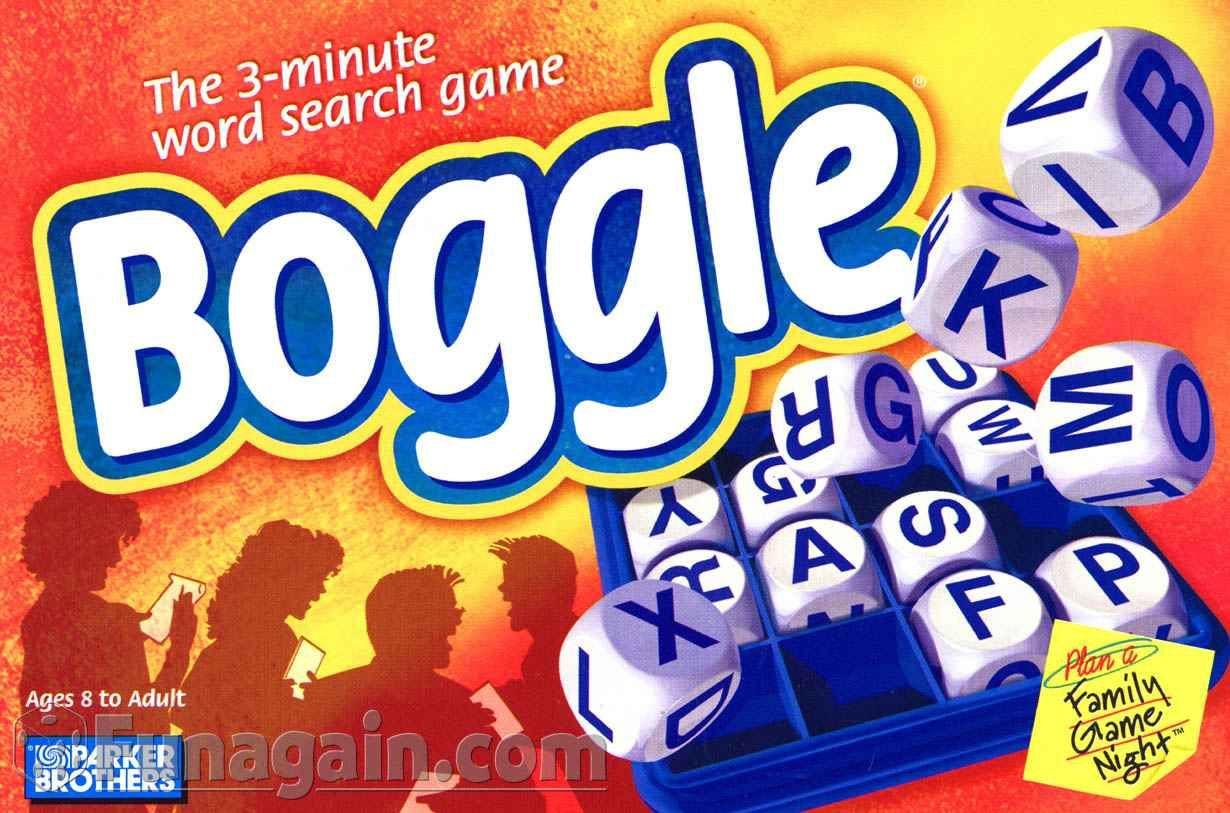 Board Game Rules and Reviews Boggle, Word search games