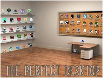 Sfondo Desktop Stanza Ufficio : Desktop ufficio nella camera di sfondo u foto stock belchonock