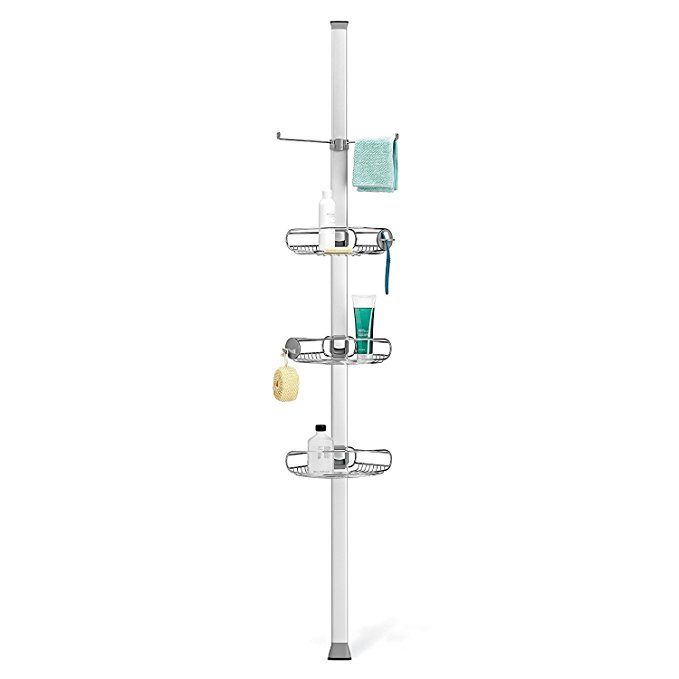 Best Simplehuman Tension Shower Caddy Fits In Corners Rust 640 x 480