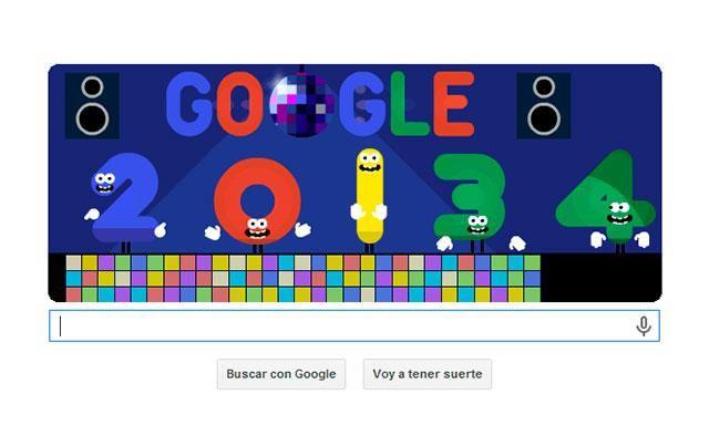 Año Nuevo 2014: Google jubila al 2013 con doodle festivo