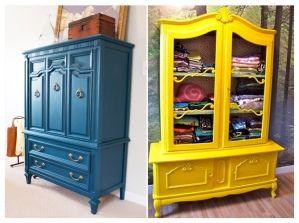 Comment Relooker Ses Meubles De Famille Armoire Ancienne - Customiser un meuble ancien en bois
