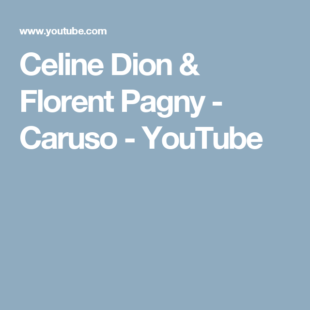 look good shoes sale another chance incredible prices Celine Dion & Florent Pagny - Caruso - YouTube | Video