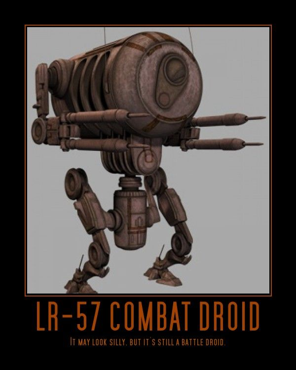 Wac 47 Is Little Funny Crazy And Cute Droid From Star Wars Clone Wars Animated Series Description From Deviantart Com Star Wars Memes Star Wars Battle Droid