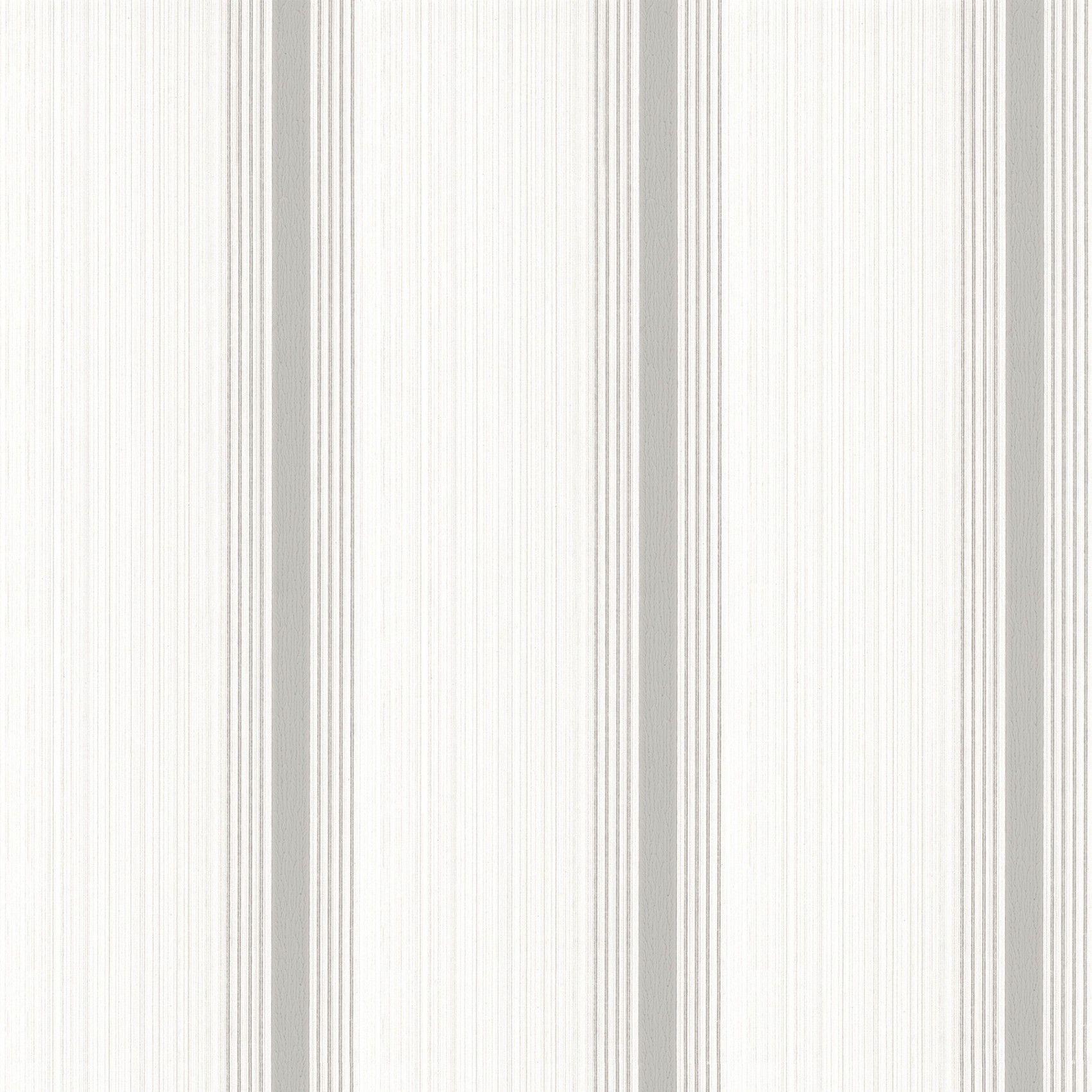 Cavendish Stripe Brush Stone Striped wallpaper