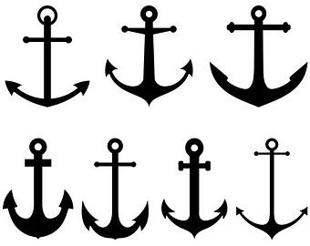 ancre de bateau clip art ancre marine clipart par. Black Bedroom Furniture Sets. Home Design Ideas