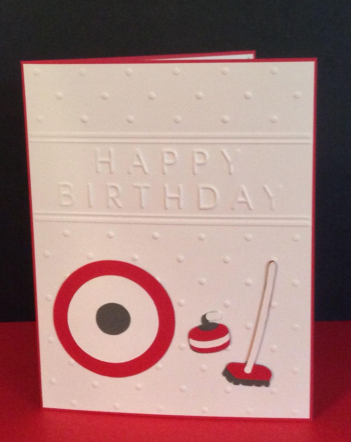 Curling birthday card cricut go canada terrys creations curling birthday card go canada bookmarktalkfo Gallery