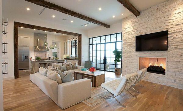 moderne wohnzimmer mit offener kuche moderne wohnzimmer mit - offene küche wohnzimmer