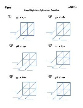 Lattice Multiplication Worksheet & worksheet 12241584 math ...