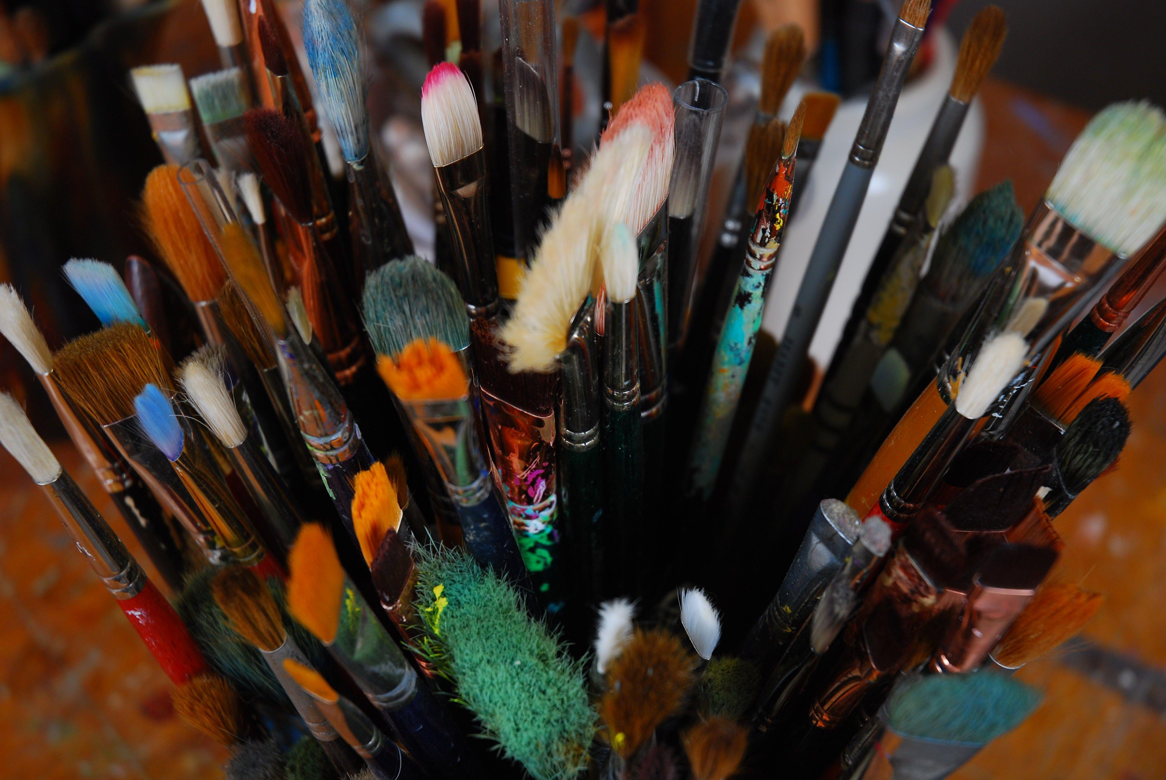 pinceaux pour acrylique, huile et aquarelle