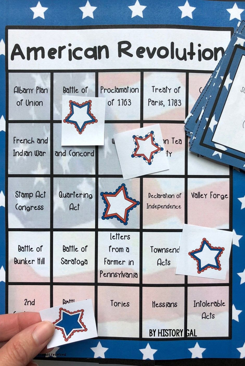 American Revolution Bingo (works with Distance Learning
