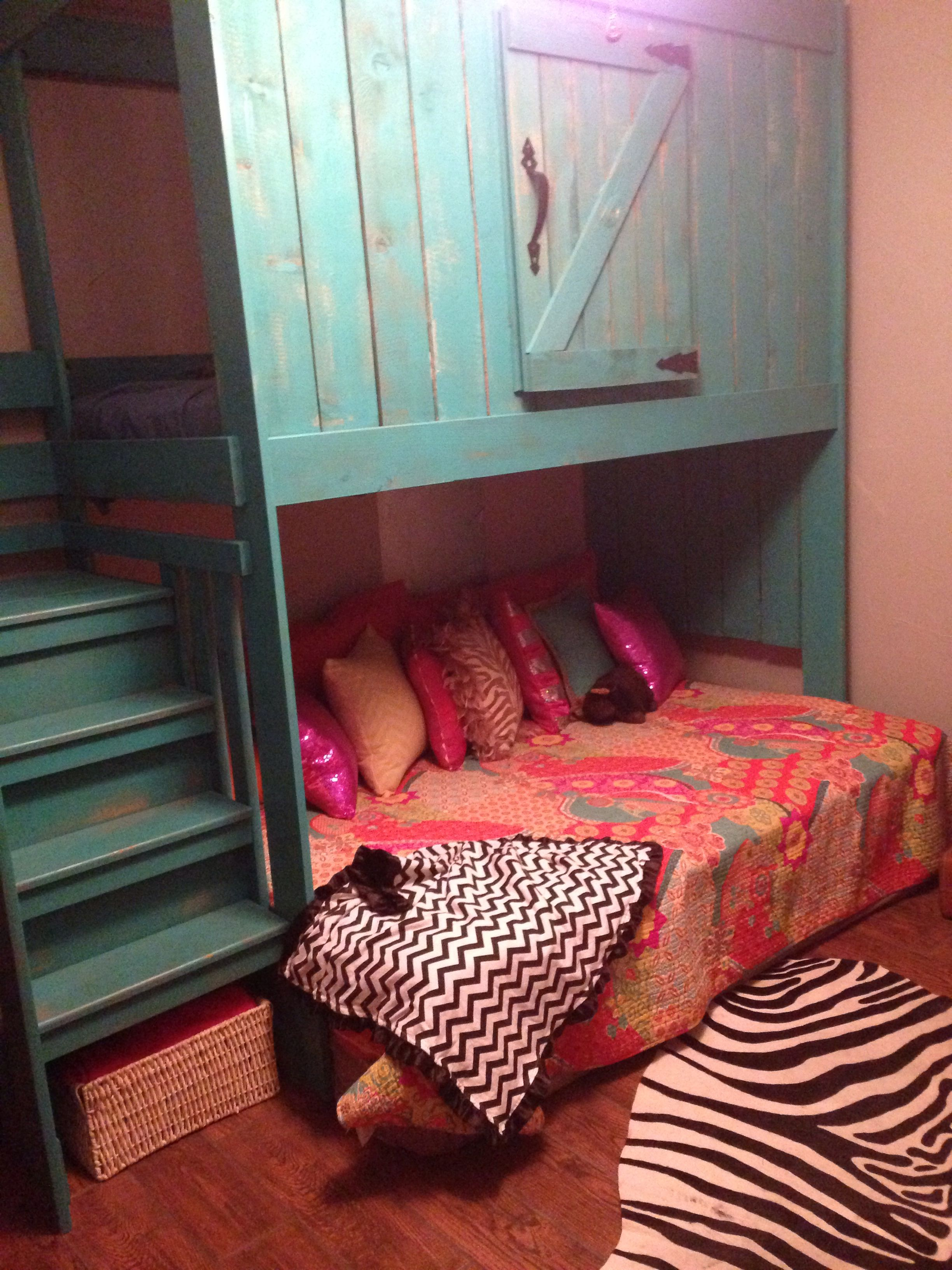 Room Ideas My Girls Bunk Bed The Window Slides Open